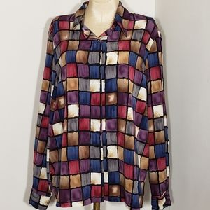 Alfred Dunner blouse size 14P